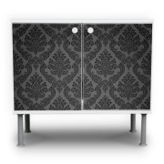 Black-Deluxe-Motiv-Waschtischunterschrank
