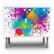 Farbspritzer-Motiv-Waschtischunterschrank