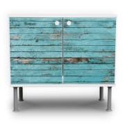 Holz-Motiv-Waschtischunterschrank