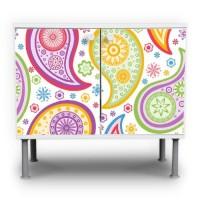 Paisley-Motiv-Waschtischunterschrank