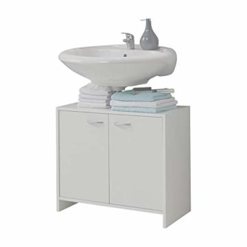 Weißer Waschbeckenunterschrank stehend von FMD Moebel