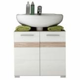 Waschbeckenunterschrank von trendteam Set One in Korpus Eiche San Remo